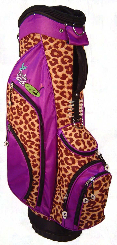 Womens Birdie Babe Purple Leopard Golf Hybrid Cart Bags