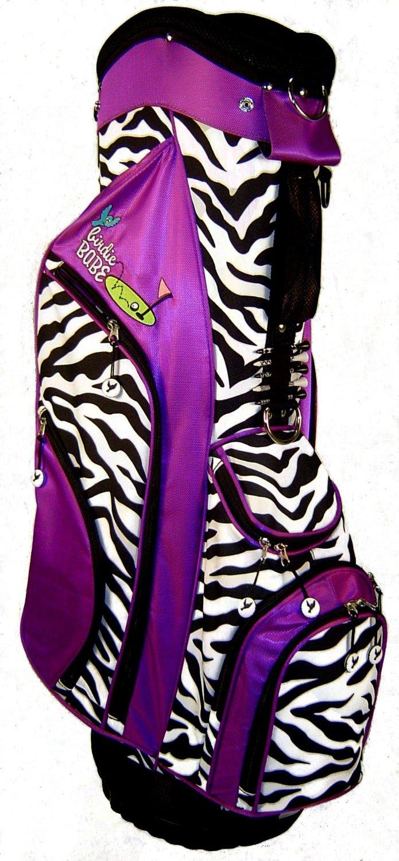 Womens Birdie Babe Purple Zebra Golf Hybrid Cart Bags