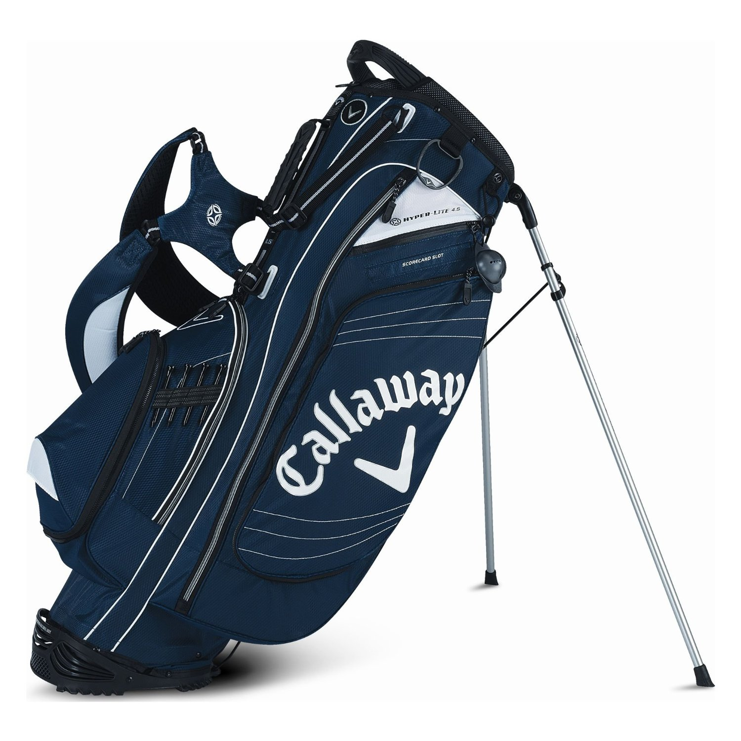 how to draw a golf bag