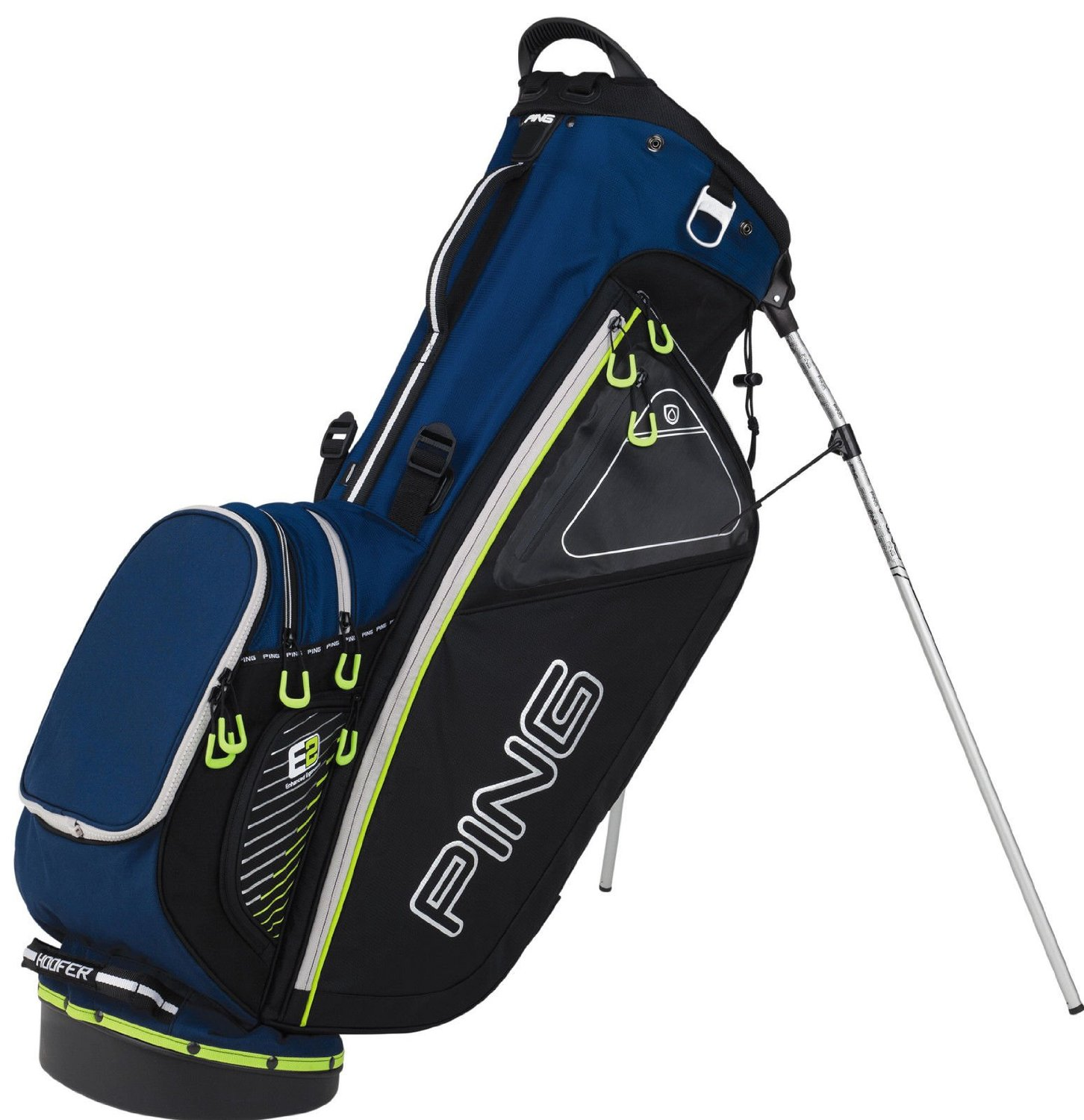 Mens Ping Hoofer II White Golf Carry Stand Bags