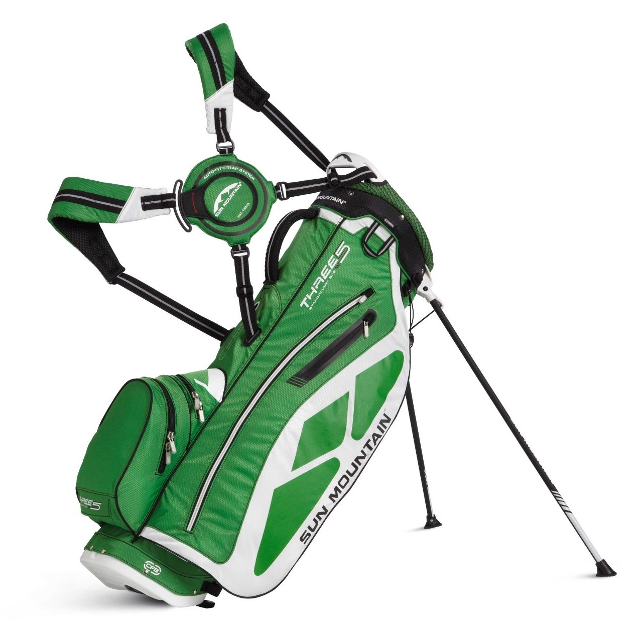 Mens Sun Mountain 2014 Three 5 Golf Stand Carry Bags