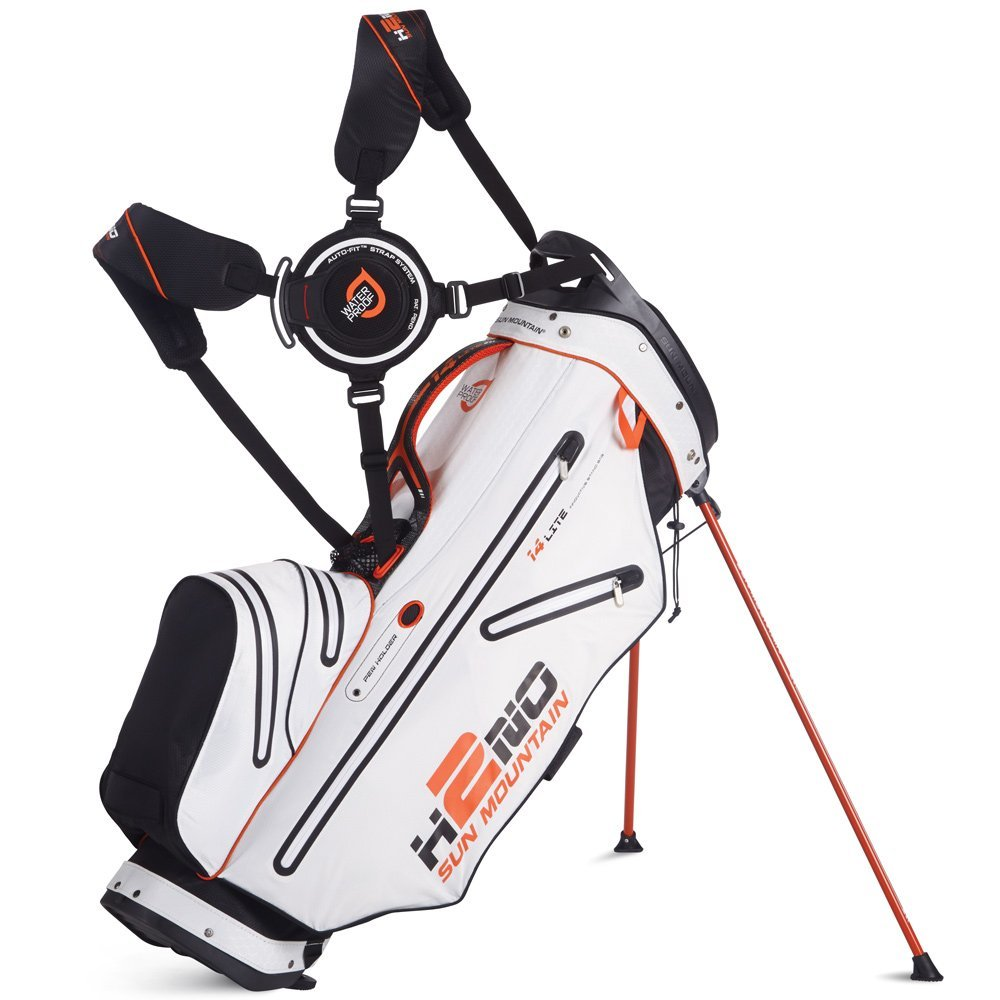 Mens Sun Mountain 2015 H2NO 14 Way Waterproof Golf Stand Bags