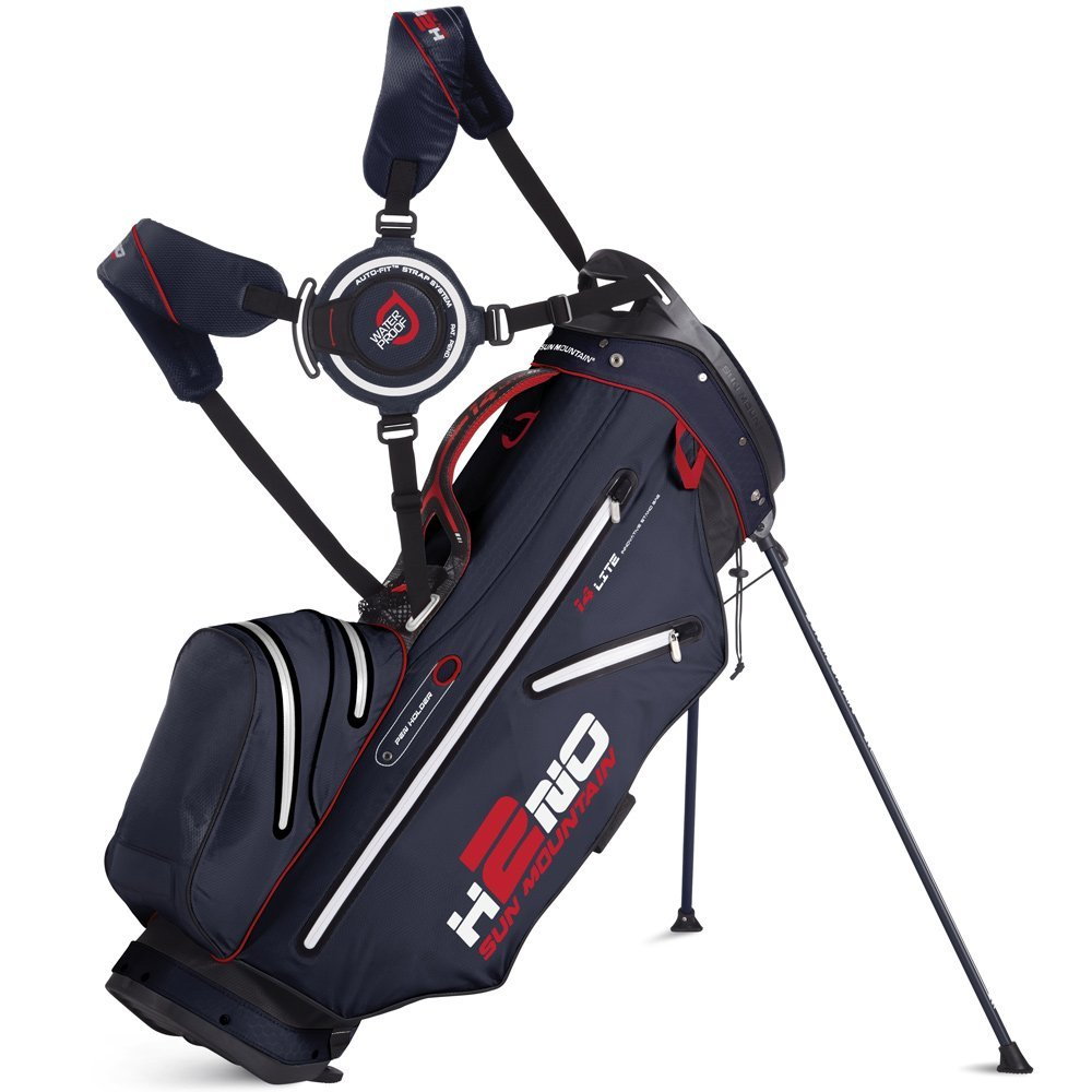 Mens Sun Mountain 2015 H2NO Lite 14 Way Golf Staff Bags