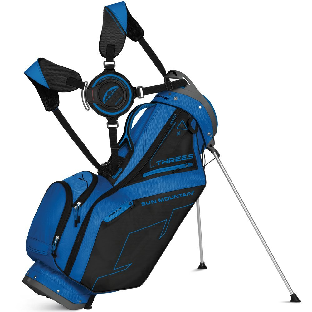 Mens Sun Mountain 2015 Three 5 Zero-G Golf Carry Bags