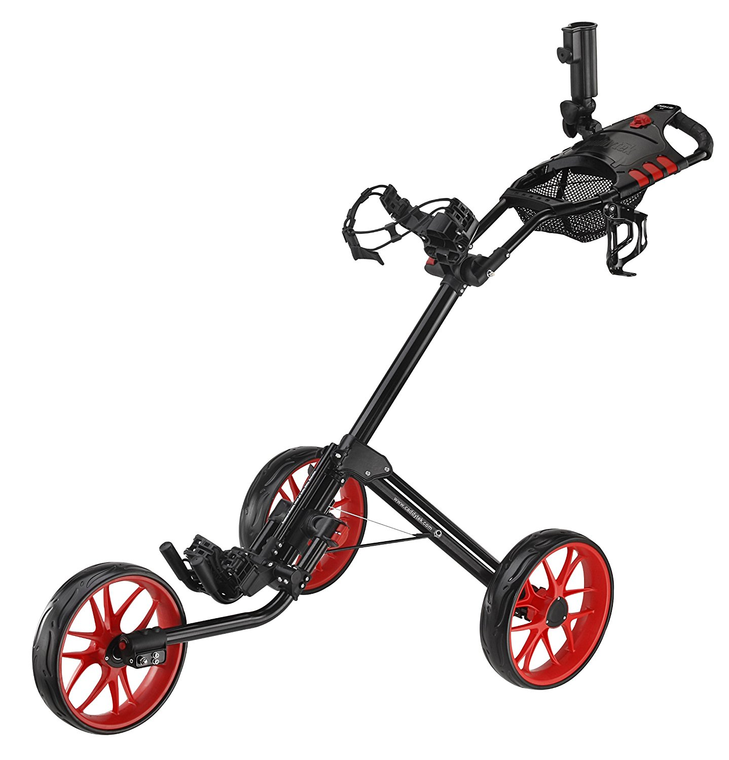 CaddyTek Deluxe Quad Fold Golf Push Carts
