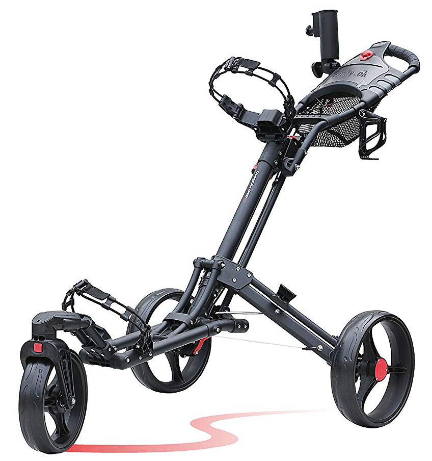 Caddytek One Click 3 Wheel Swivel Front Golf Push Carts