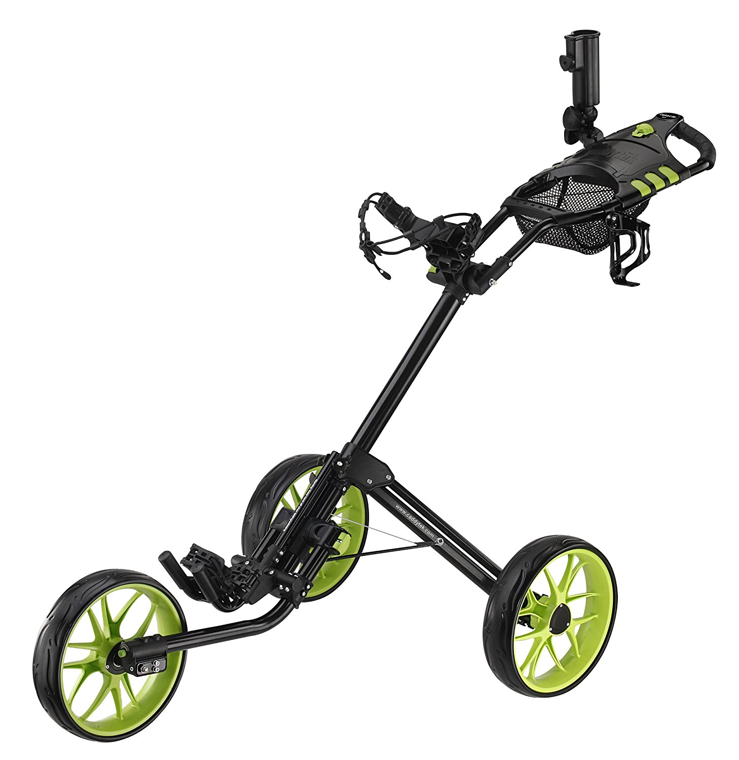 CaddyTek Super Deluxe Quad Fold Golf Push Carts
