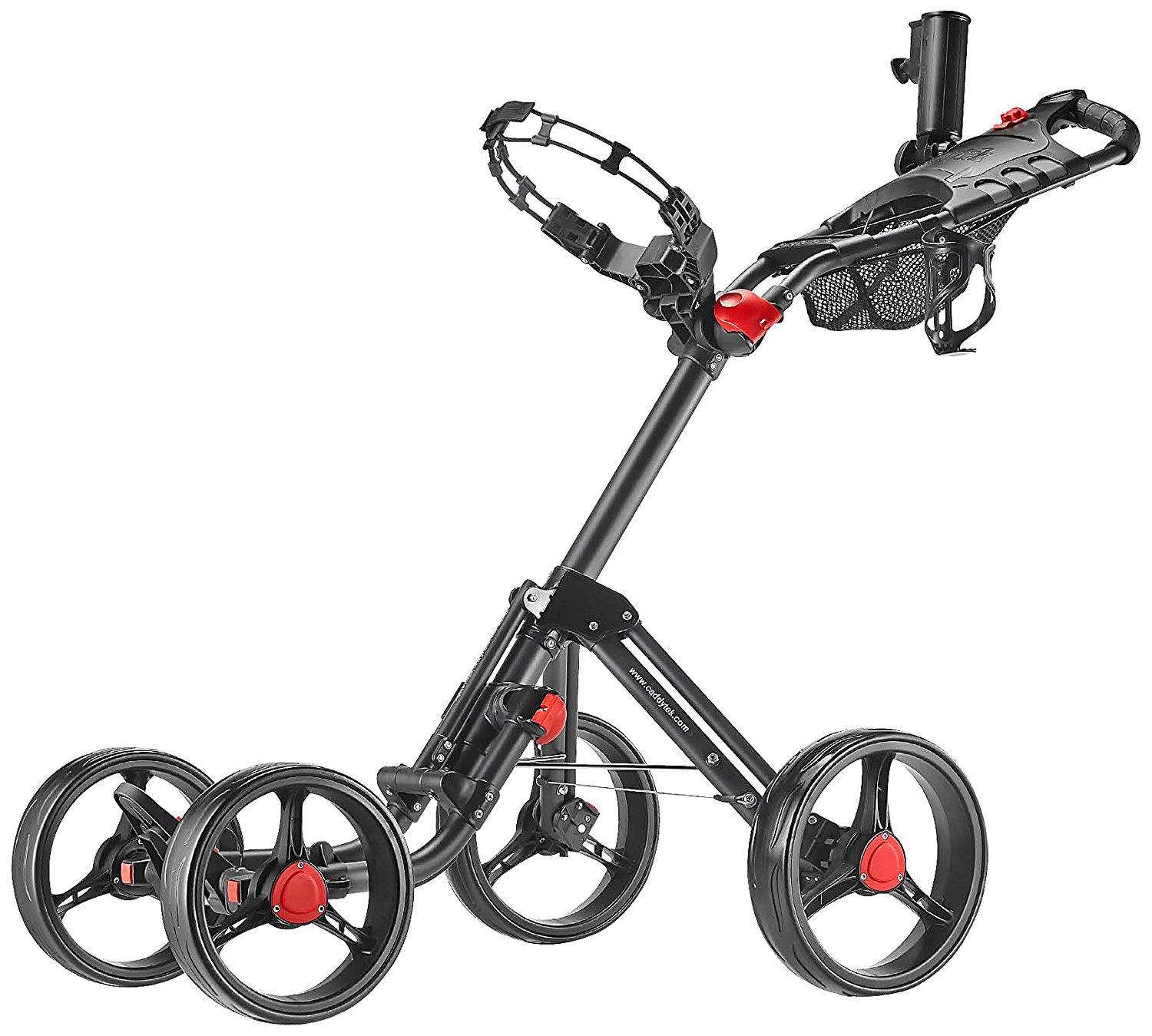 CaddyTek SuperLite Explorer 4 Wheel Golf Push Carts