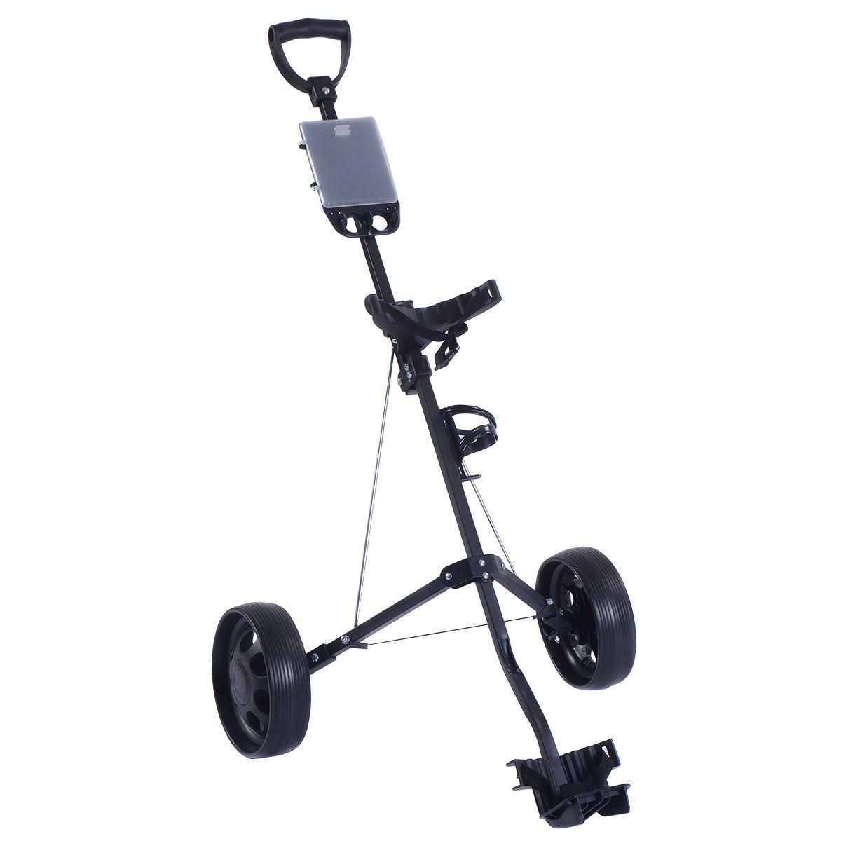 Tangkula Manual Golf Push Amp Pull Trolley Carts Amp Accessories