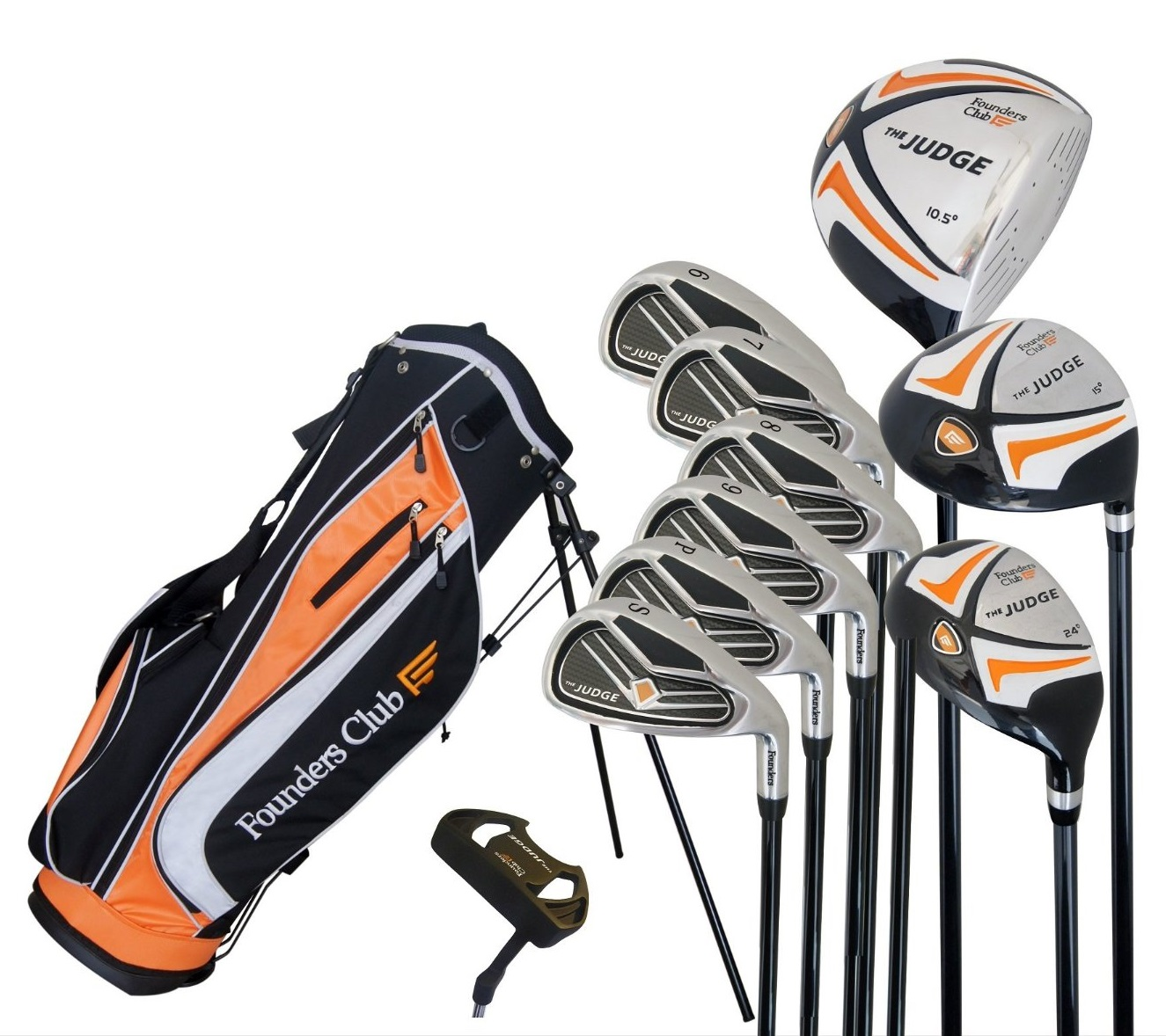 Mens Founders Club The Judge Complete Golf Club Set with Stand Bag