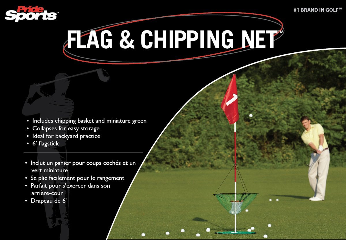 pride golf flag and chipping nets