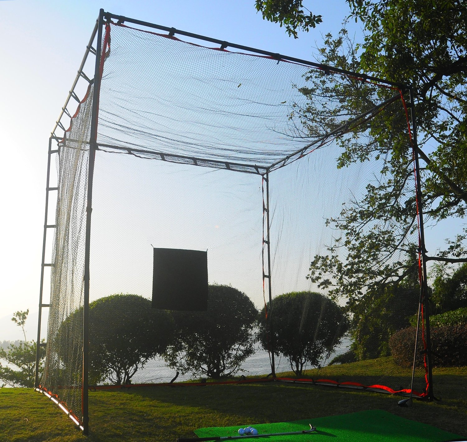 ProAdvanced MasterCage Golf Practice Cage with Hitting Target
