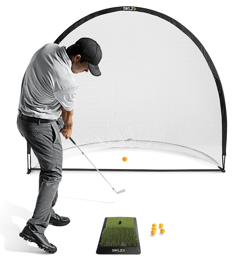 SKLZ Home Practice Range Hitting Mat Net and Practice Balls