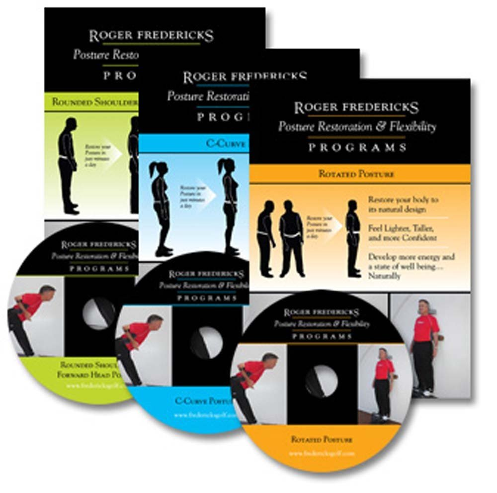 Roger Fredericks Golf Posture Restoration and Flexibility Program 3 DVD Set
