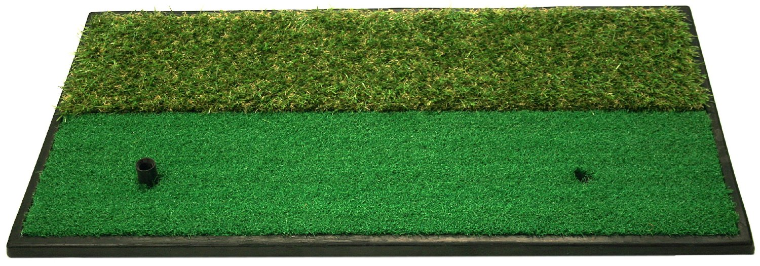 ProActive Dual-Surface Hitting/Practice Chipping and Driving Golf Grass Mats