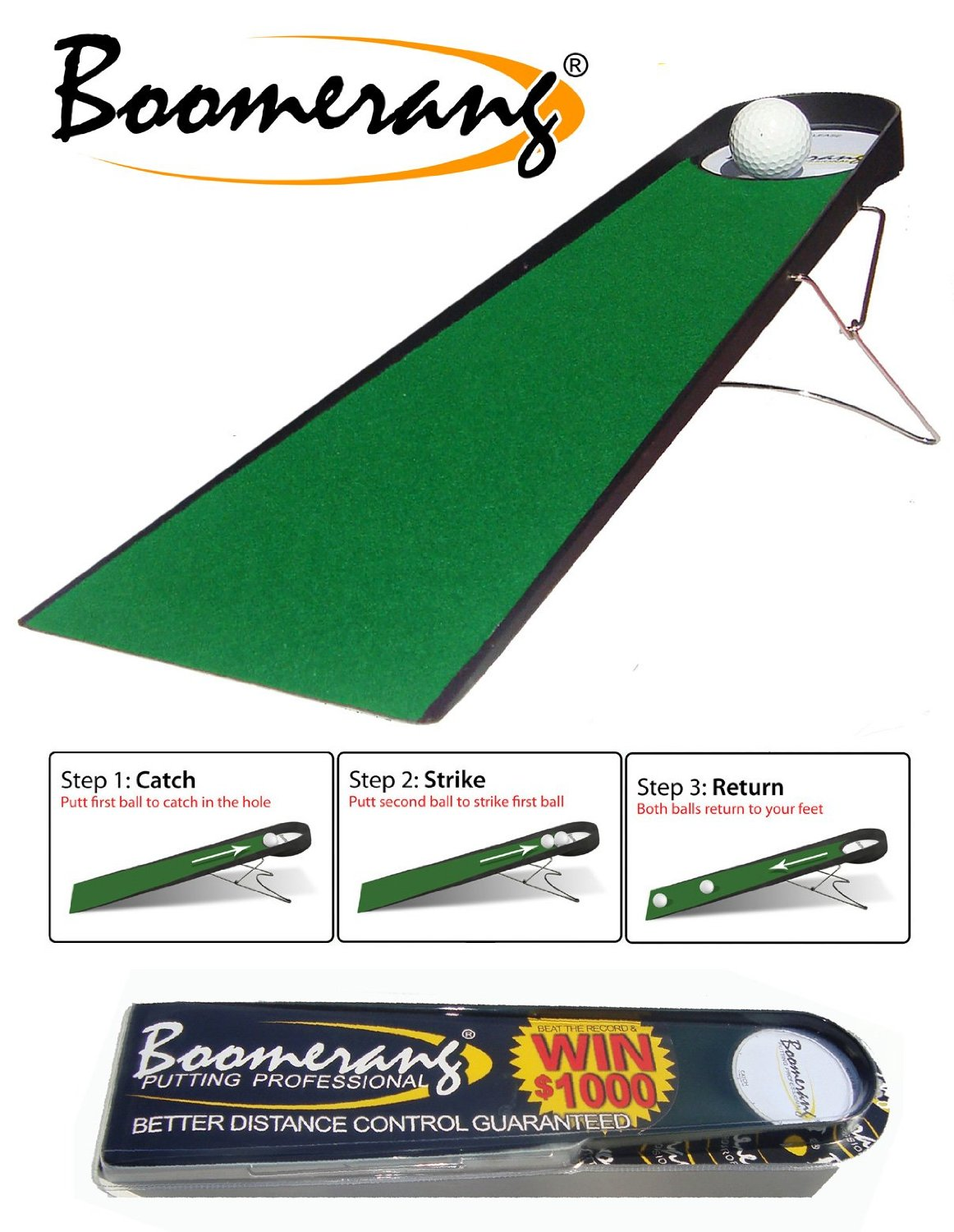 Boomerang Putting Pro Indoor Golf Putting Aids