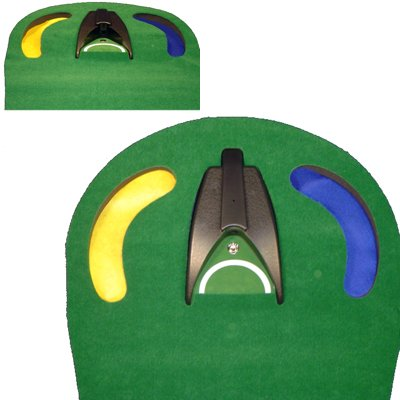 Confidence Golf Automatic Return Putting Mat with Hazard