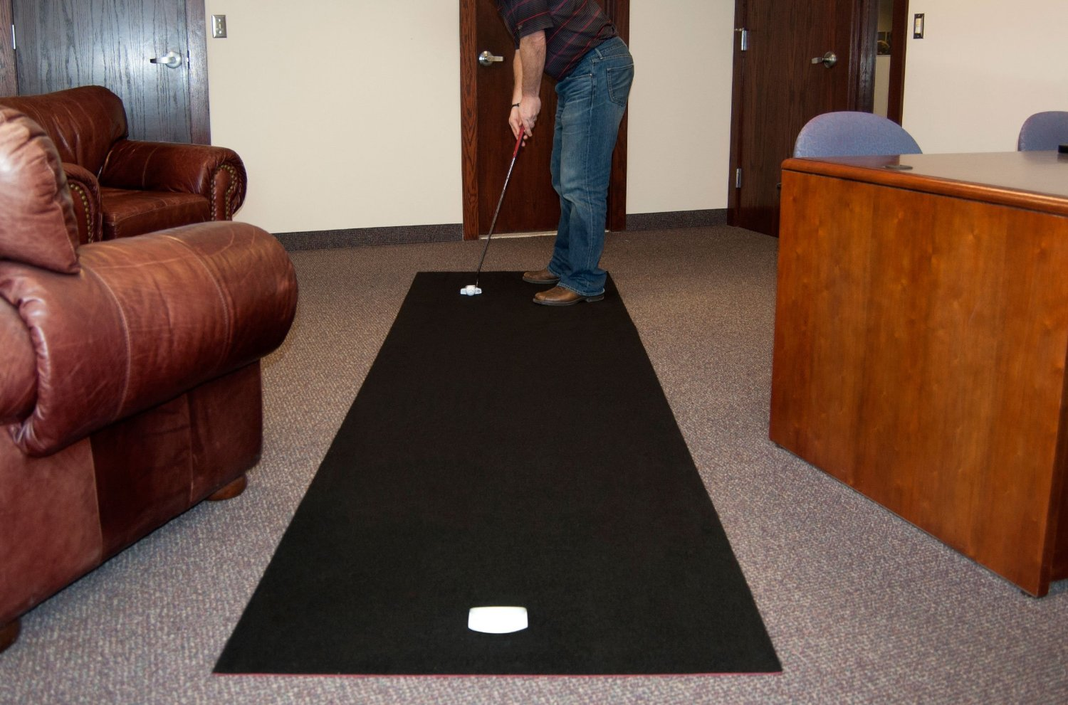 Odyssey Golf Deluxe 11ft x 3ft Practice Putting Mats