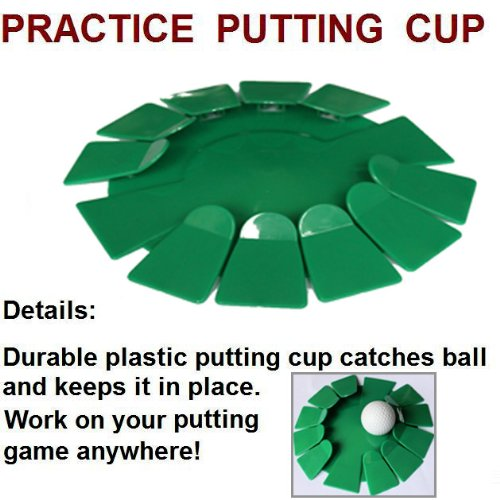 Andux Green All-Direction Practice Golf Putting Cups