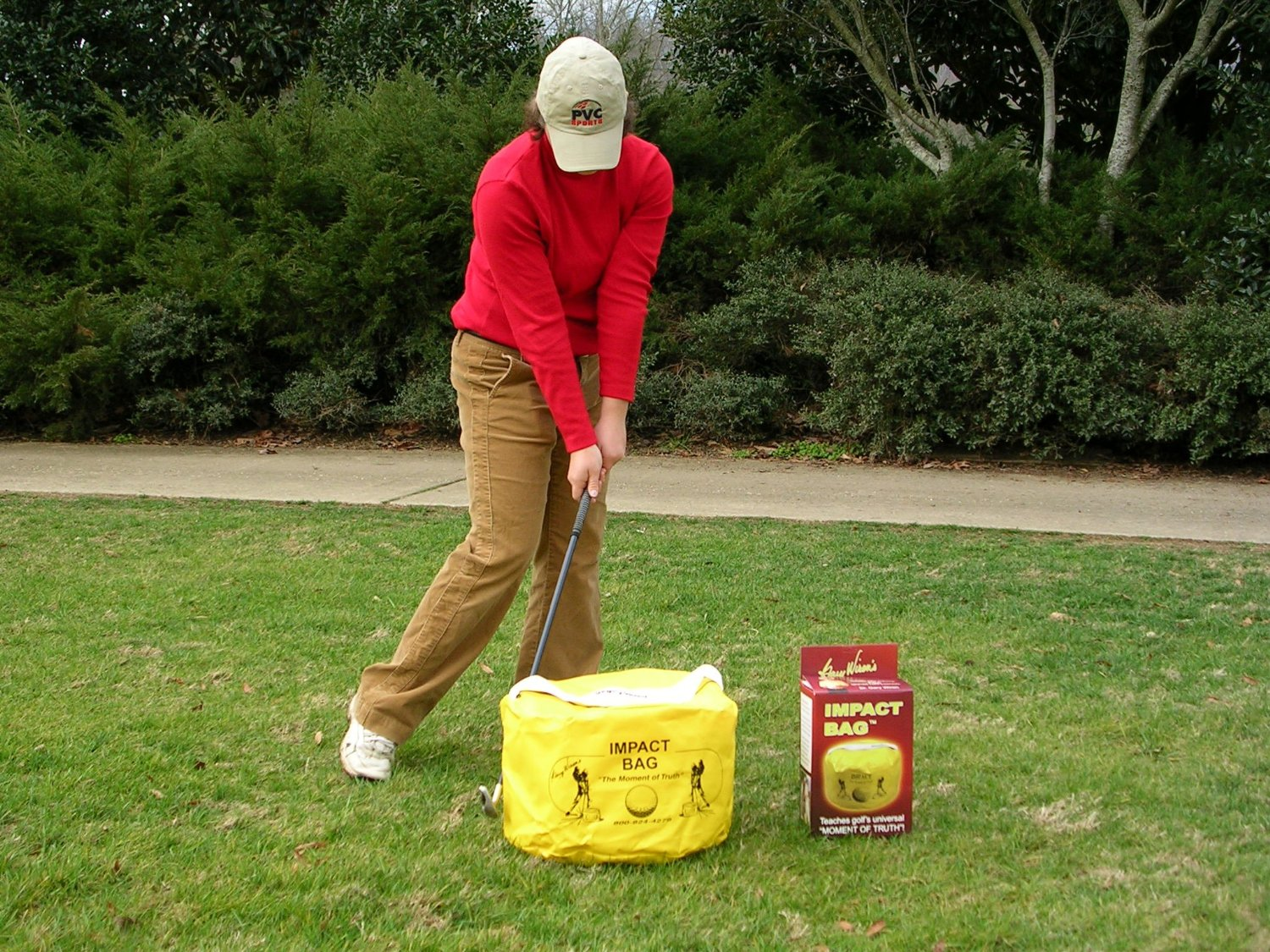 Dr. Gary Wiren Impact Bag Golf Impact Training Aids